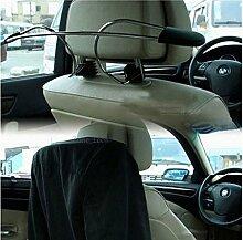 aomag® Metall KFZ Kleiderbügel Kopfstütze Kleidung Halterung Travel Fahrzeug Jacke Anzug Kleiderbügel mit Kopfstütze Zurückhaltung Ruten