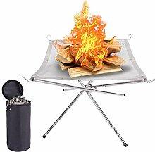 Aomier Feuerschale Mit Funkenschutz,Dreibein Grill