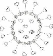 AONER 20 Stück Metall Fotohalter Herz