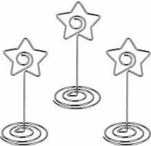 AONER 20 stück Stern Tischkartenhalter (mit