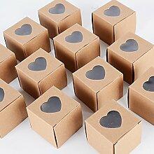 AONER (5 * 5 * 5cm) 100 Stück Gastgeschenk Box