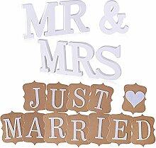 AONER MR & MRS Deko Buchstaben Hochzeit (inkl.