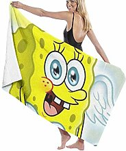 AOOEDM Angel Spongebob Badetuch, superweiches,