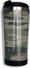 AOOEDM Army Green Camouflage Edelstahl Becher mit
