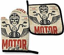 AOOEDM Bikers Skull Motorrad Gang Rider Ofen Mitt