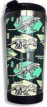 AOOEDM Dinosaurier Edelstahl Becher mit Deckel