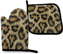 AOOEDM Etosha Leopard Ofenhandtopfhalter Sets,