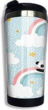 AOOEDM Happy Cute Rainbow Panda Edelstahl Becher
