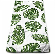 AOOEDM Hot Tropical Leaves Handtuch 100%
