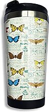 AOOEDM Insektenmuster Edelstahl Becher mit Deckel