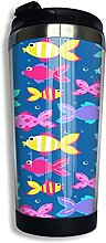 AOOEDM Little Tropical Fish Edelstahl Becher mit