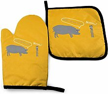AOOEDM Oven Mitts and Pot Holders Sets Bacon, ich