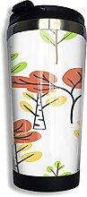 AOOEDM Retro Baum Handzeichnung Edelstahl Becher