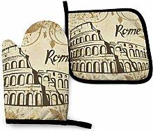 AOOEDM Rome Colosseum Ofenhandtopfhalter Sets,