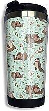AOOEDM Sea Otters Edelstahl Becher mit Deckel