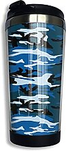 AOOEDM Sky Blue Camouflage Edelstahl Becher mit