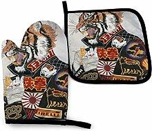 AOOEDM Tiger Racer Ofen Mitteltopfhalter Sets,