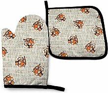 AOOEDM Tiger Tiger On Dots Ofenhandtopfhalter