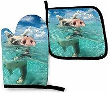 AOOEDM Wildschwimmschweinofen Mitt Topf Topfhalter