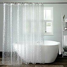AooHome Eva-Duschvorhang, transparent, wasserfest,