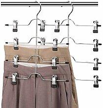 Aoolife Kleiderbügel für Hosen, 5 Lagen,