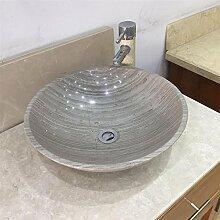AOSHE Badezimmer Waschbecken Sago Marmor Beige