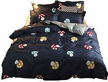 AOTE Bettbezug Kopfkissenbezug Bettwäsche Blaues