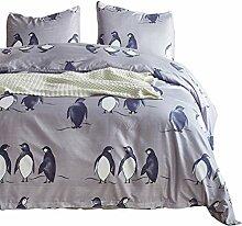 AOTE Bettbezug-Set, 3 Stück Bettwäsche,
