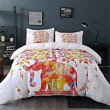 AOTE Bettwäsche Set, Elephant Printing, Bettbezug