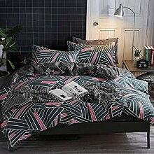 AOTE Kissenbezug für Bettbezüge Bettbezug Blau