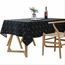 AOUP-Tischdecke, Einfache Weihnachten Schwarz Und
