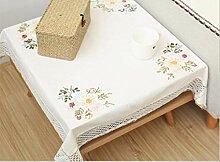 AOUP-Tischdecke, Weiße Offene Staub Staub
