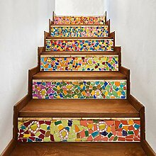 Aousthop 3D-Treppen-Aufkleber, abziehbar und