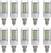 Aoxdi 10x E14 7W LED Lampe, Kaltweiß, 48 SMD 5730