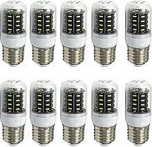 Aoxdi 10x E27 4W 36 LED Lampe, Kaltweiß, E27 LED