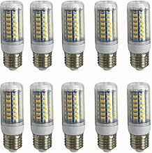 Aoxdi 10x E27 LED Birne 8W, Warmweiß, E27 LED