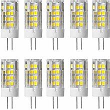 Aoxdi 10X G4 LED Licht Lampe 5w, Kaltweiß, 51 SMD