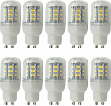 Aoxdi 10x GU10 LED Glühbirne 4W, Warmweiß, Nicht