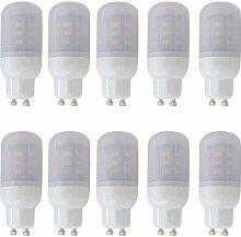 Aoxdi 10x GU10 LED Lampen 4W, Warmweiß, 5730 SMD