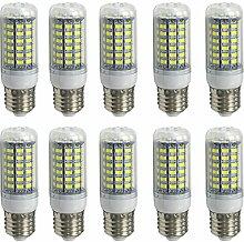 Aoxdi 10X LED Lampe 10W E27 Sockel 69X5730 SMD