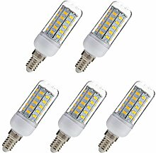 Aoxdi 5x E14 7W LED Lampe, Warmweiß, 48 SMD 5730