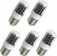Aoxdi 5x E27 4W LED Lampe, Kaltweiß, E27 LED