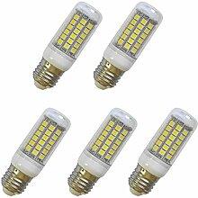 Aoxdi 5x E27 LED Lampe Birnen 8W, Kaltweiß,
