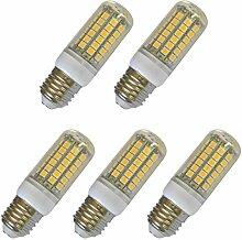Aoxdi 5x E27 LED Lampe Birnen 8W, Warmweiß,
