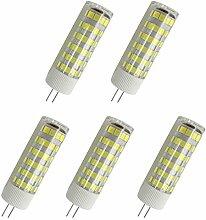 Aoxdi 5X G4 LED Leuchtmittel 7W, Kaltweiß, 75 SMD