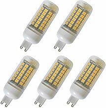 Aoxdi 5x G9 LED Lampe Birnen 8W, Warmweiß, Ersatz