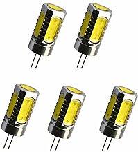 Aoxdi 5X LED Lampe 6W G4, DC 12V, LED Leuchtmittel