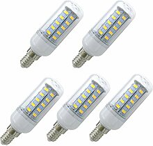 Aoxdi 5x LED Mais Licht E14 6W, Warmweiß, LED