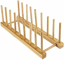 AOZBZ Bambus Holz Abtropfgestell Teller Halter