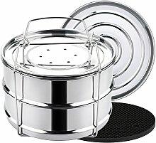 Aozita 8 qt Dampfgarer-Einsatz für Instant Pot